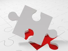 Pieces of puzzle Stock Illustration
