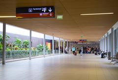 PARIS - SEPTEMBER 5TH: The interior of Charle de gaulle airport on September  Stock Photos