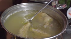 Chiken Soup For Child Stock Footage