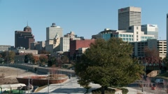 The Memphis skyline on a sunny winter day Stock Footage