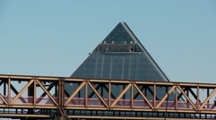 Observation Deck of the Memphis Pyramid Stock Footage
