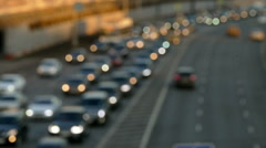 The Flow of Cars in Rasfokus Stock Footage