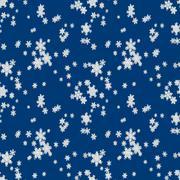 Seamless pattern of falling snow Stock Illustration