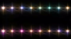 Double Stars lens flares pattern color Stock Footage