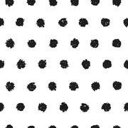 Polka dot seamless pattern - stock illustration