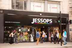 Stock Photo of LONDON - MAY 19TH: The exterior of Jessops on May the 19th, 2015, in London,