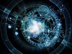 Gears of Astrology - stock illustration