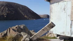 Coastal landscape in an abandoned town in Northern Quebec. Stock Footage