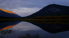 Picturesque view mountain lake in the Fall Banff Alberta Canada - stock footage