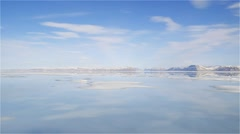 Mountain and sea ice landscape at Admiralty Inlet in Arctic Bay. Stock Footage