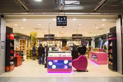 PARIS - SEPTEMBER 5TH: Buy Paris at Charle de gaulle airport on September the - stock photo