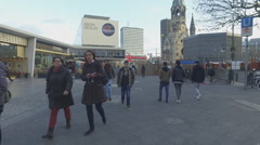 Tourists walking at the streets in Berlin Stock Footage