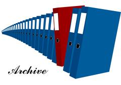 Archive Stock Illustration