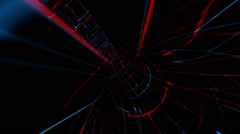 Abstract virtual technology space - stock footage