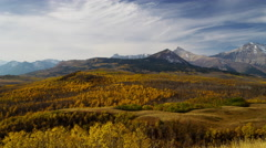 Environmental wildlife habitat of mountains and grasslands in the Fall - stock footage