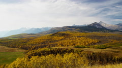 Remote autumn wilderness of hiking trails in conservation destination - stock footage