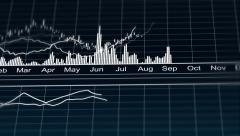 Animated line chart representing demographic statistics data, analytical graph Stock Footage