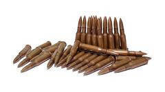 The old rifle cartridges Stock Photos
