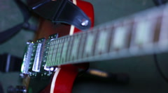Electric guitar close up Stock Footage