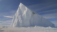 Large iceberg in on the Arctic horizon. Stock Footage