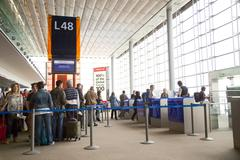 PARIS - SEPTEMBER 5TH: Gate L48 at Charle de gaulle airport on September the  Stock Photos