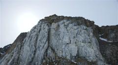 Arctic mountainside on Bylot Island, Nunavut. Stock Footage