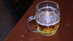 Beer Glass in a Pub. - stock footage