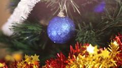 Christmas tree and christmas lights - stock footage