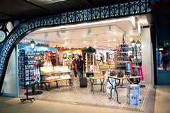 PARIS - SEPTEMBER 5TH: Duty free at Charle de gaulle airport on September the Stock Photos