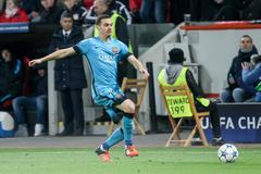 Leverkusen, Germany- December 9, 2015: Thomas Vermaelen during the UEFA Champ - stock photo