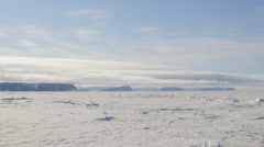 A large tent set up in an Arctic ice field. Stock Footage