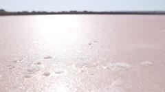 Sea salt reservoir - desalination  Stock Footage