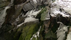 Walls inside of a cave in an Arctic cliffside. Stock Footage