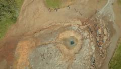Aerial view of Strokkur Geyser Hot springs Golden Circle - stock footage