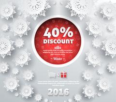 Stock Illustration of Winter Discount Best Choice Design Flat