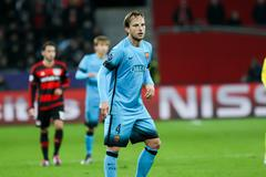 Stock Photo of Leverkusen, Germany- December 9, 2015: Ivan Rakitic during the UEFA Champions