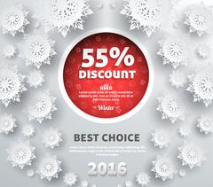 Stock Illustration of Winter Discount Best Choice Design Flat