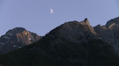 Summits of the Bugaboo Mountains, British Columbia. Stock Footage