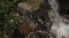 Stream flowing through Bugaboo Provincial Park. Tilt Stock Footage