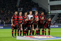 Bayer 04 Leverkusen vs Barcelona Champions League - stock photo