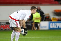 Stock Photo of Leverkusen, Germany- December 9, 2015: Bernd Leno during the UEFA Champions L