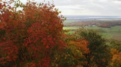View of the Ottawa/Gatineau countryside from Champlain Lookout. Pan Stock Footage