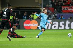 Leverkusen, Germany- December 9, 2015: Ivan Rakitic during the UEFA Champions - stock photo