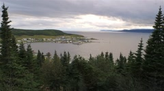 Landscape of Conche, Newfoundland & Labrador. Stock Footage