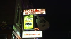 Neon sign for a record shop in Nashville Tennessee. Arkistovideo