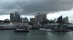 Sydney harbour overcast Stock Footage