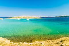Stock Photo of The pristine coastline of the island of Rab.