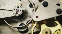 Mechanical Components works. gears rotate Stock Footage