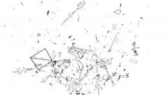Mathematical formulas fly. The numbers, mathematical formula, geometry - stock footage