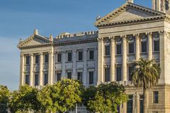 Legislative Palace of Uruguay in Montevideo Stock Photos